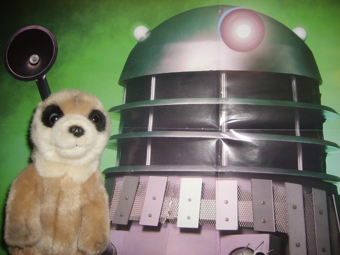 Spike the Meerkat and Dale the Dalek
