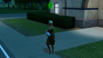 Aurore mit le bébé et sa robe de grossesse moche